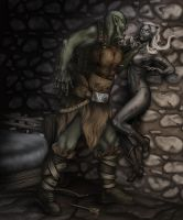 Drow:  Felyn vs Firag by dbryn