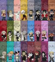 Soul Eater Bookmarks by cindynga