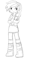 For Jasguin- Sparky :Equestria Girls: WIP by Starry-Bat1