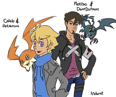 Caleb and Metias by hielorei