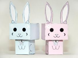 Usagi and Usachan the Japanese Easter Bunnies by scarykurt