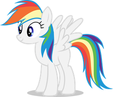 Rainbow Dash Recolour - Standing by Bdgs