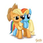 Applejack and Rainbow Dash by mysticalpha