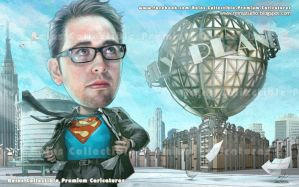 Daily Planet Rooftop Premium Caricatures by Reinsstudio