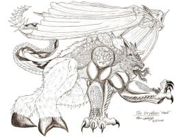 Gryphon Sketch Study 2 Hybrid by RenDragonClaw