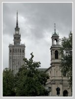 Rainy day in Warsaw by etr-wroclove