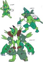 Fakemon- Grass Starters by TheZombieHunter