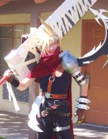 Kingdom Hearts Cloud by MiraiTrunksBaby