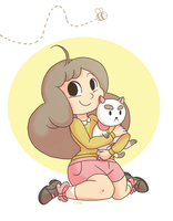 Bee and Puppycat and Bee by C-Puff