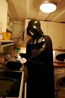 Darth Vader doing dishes by AATC-86