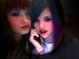 Demi and Selena retouch by caris94