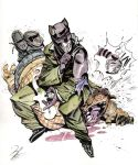 Blacksad tribute (ink+watercolor) by EnriqueFernandez