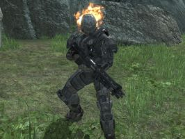 Ghost Rider in Halo Reach by KATTALNUVA