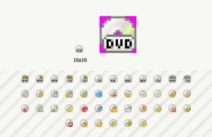 Flat cd-dvd pixelate by Andy3ds
