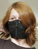Black Soft-Leather Assassin's Half Mask by SerenFey