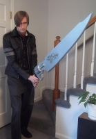 Leon Kennedy Uses A Gunblade by AirPirateCid