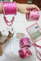 Pink India's Bangles by seawaterwitch