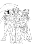 Three Celtic Elven Knights by AstroZerk