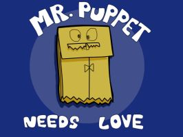 Mr. Puppet Needs Love by Glytzy