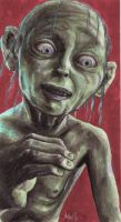 Copic LotR - Gollum by Seyreene