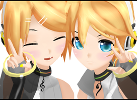 Make a cute pose Len~ by ToYouFeeling