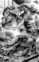 Hulk v Thing Final by TonyParkerArt