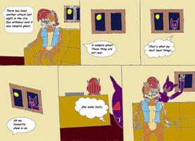 Sally the Vampire Queen comic page 1 by Power1x