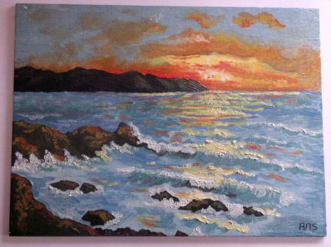 Sunset in acryl... by ansdesign