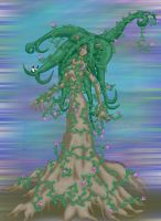 Ivy Covered Tree Spirit by soulesslouisa