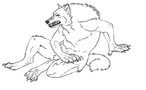 Werewolf Lineart by WhiteWolfCrisis13