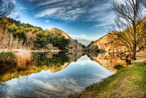 Lake in Saint Remy by thejampot