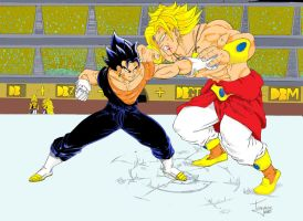 Vegetto e Broly colorido by Trajano-chan