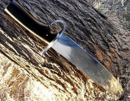 Ebony Handled Bowie Knife by HellfireForge