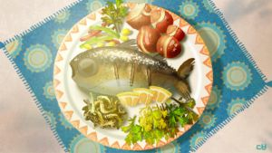 a fish dish by pikaole