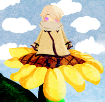 APH-Lying in a Sunflower by NamelessAnami