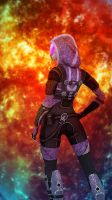 Tali Zorah vas Normandy by Melasfatum