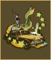 New Yorker Cab T-Shirt Design by PoshOne