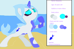 MLP- Seaspray the mer unicorn~ by Coolterra342