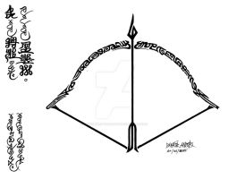 Swira Archery Proverb Calligraphy by conciliarityoftepat