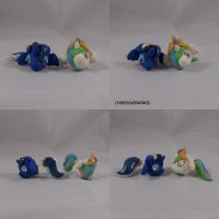Luna and Celestia Earrings by ChibiSilverWings