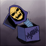 skeletor in the box by Djeroon