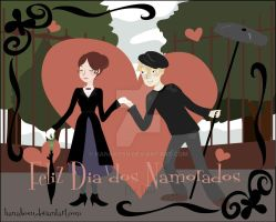 Mary and Bert Velentines card by hanakosu