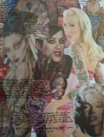 Tattooed Lady Collage by sin-and-debauchery