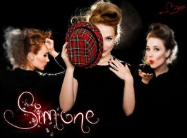 Simone Simons Wallpaper by LanaArts