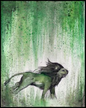 Moss Lion by sketchy-doom