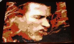 Perler Dave Mustaine Face by cracklebyte
