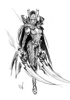 Phantom Assassin sketch by LadySamaine
