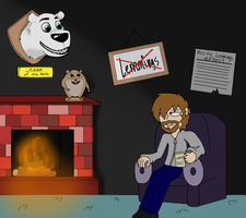 Norm of the wall above the fireplace by The-Capricious-Clown