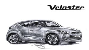 Hyundai Veloster GDi Drawing 2012 by toyonda