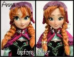 repainted ooak limited edition snow gear anna doll by verirrtesIrrlicht